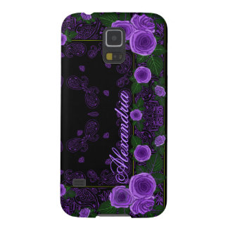Raspberry Roses & Paisley Bandana Name Template Galaxy S5 Covers