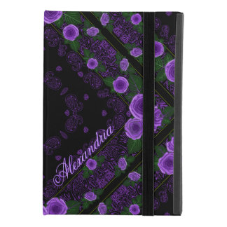 Raspberry Roses & Paisley Bandana Name Template iPad Mini 4 Case