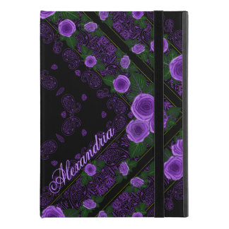 "Raspberry Roses & Paisley Bandana Name Template iPad Pro 9.7"" Case"