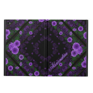 Raspberry Roses & Paisley Bandana Name Template Powis iPad Air 2 Case