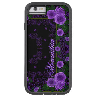 Raspberry Roses & Paisley Bandana Name Template Tough Xtreme iPhone 6 Case