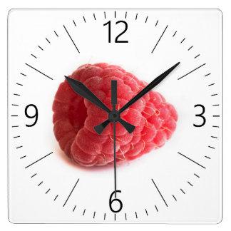 Raspberry Square Wall Clock