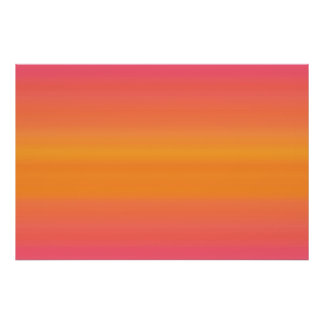 Raspberry Sunset Gradient - Pink Yellow Orange Poster