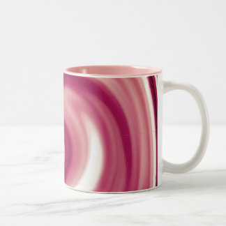 Raspberry Swirl Two-Tone Coffee Mug