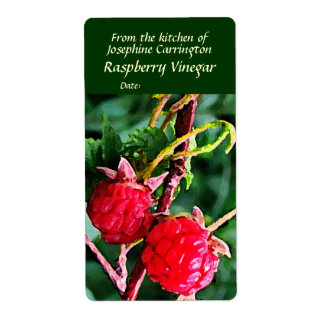 Raspberry Vinegar Labels