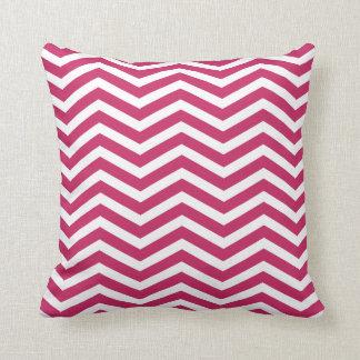 Raspberry Wine Zigzag Pattern Pillow