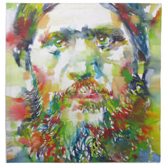 RASPUTIN - watercolor portrait.1 Napkin