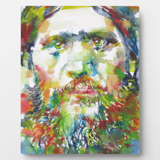 RASPUTIN - watercolor portrait.1 Plaque