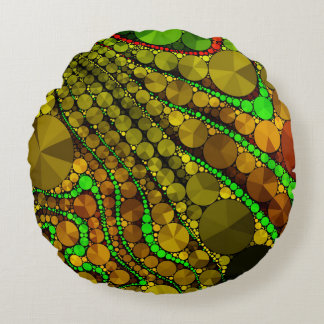 Rasta Abstract Bling Pattern Round Cushion