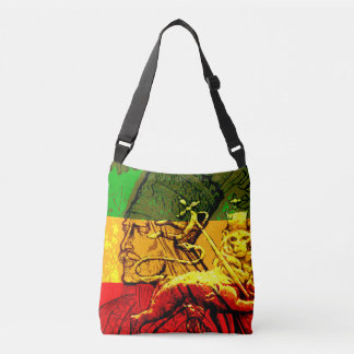 Rasta All Over Design Cross Body Bag