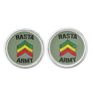 Rasta army cufflinks
