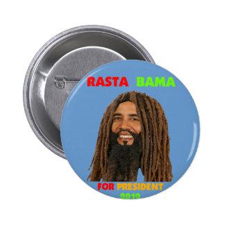 Rasta Bama, President Obama in Dreadlocks 6 Cm Round Badge