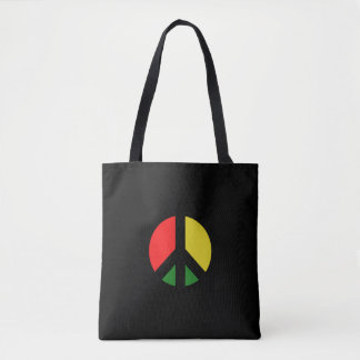 Rasta Ban the Bomb CND Peace Symbol Tote Bag