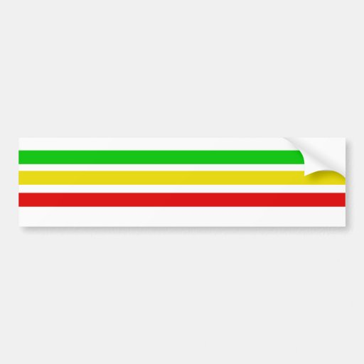 Rasta Bars Bumper Sticker