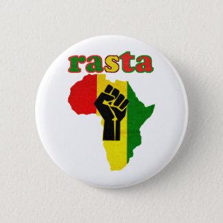 Rasta Black Power Fist over Africa 6 Cm Round Badge