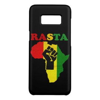 Rasta Black Power Fist over Africa Case-Mate Samsung Galaxy S8 Case