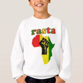 Rasta Black Power Fist over Africa Sweatshirt