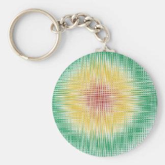Rasta Bullseye Lines Key Ring