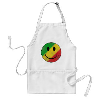 Rasta Classic Smiley Face Adult Apron