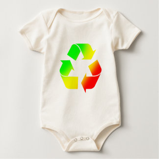 Rasta Colored Recycle Sign Baby Bodysuit