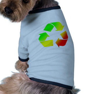 Rasta Colored Recycle Sign Dog Tee Shirt