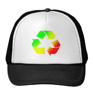 Rasta Colored Recycle Sign Hat
