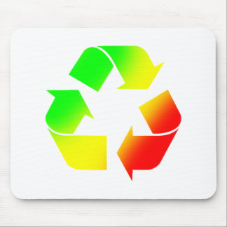 Rasta Colored Recycle Sign Mouse Pad
