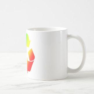 Rasta Colored Recycle Sign Coffee Mugs