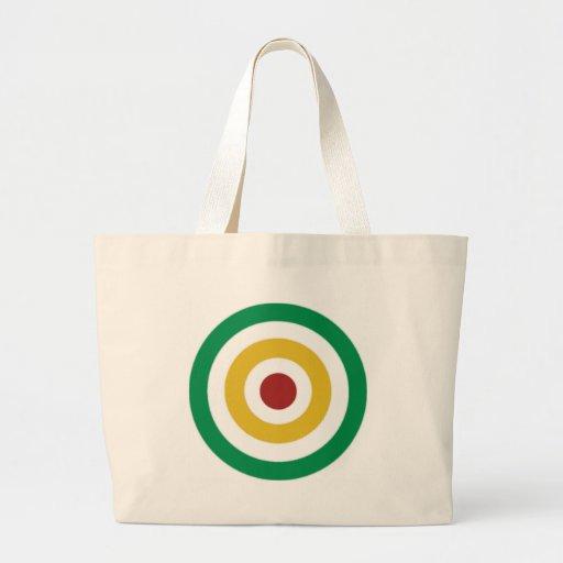 Rasta Colored Rings Tote Bag