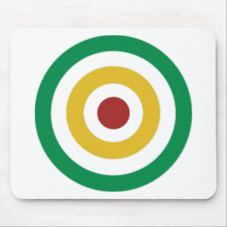 Rasta Colored Rings Mouse Pad