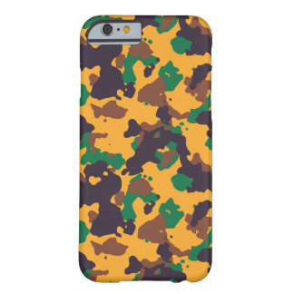 Rasta colorful camouflage pattern barely there iPhone 6 case