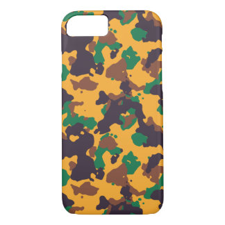 Rasta colorful camouflage pattern iPhone 7 case