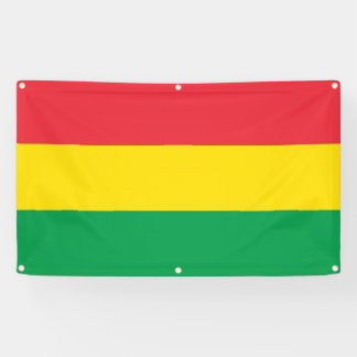 Rasta Colors Green Yellow Red Stripes Flag Pattern Banner