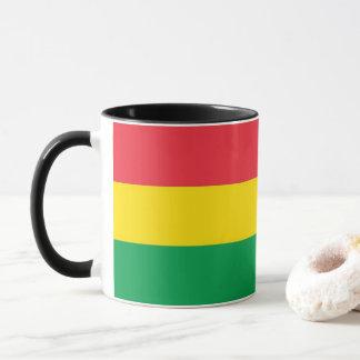 Rasta Colors Green Yellow Red Stripes Flag Pattern Mug