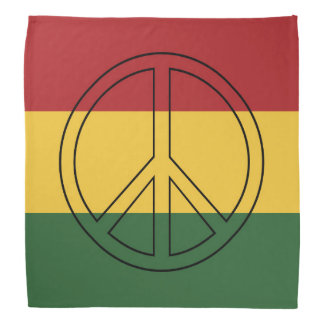 Rasta Colors Peace Bandanna