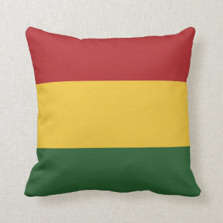 Rasta Flag Colors Cushion