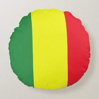 Rasta flag round cushion