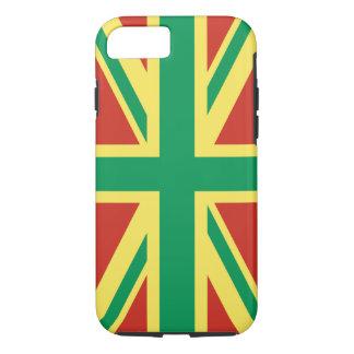 Rasta Flag UK iPhone 7 Tough Case