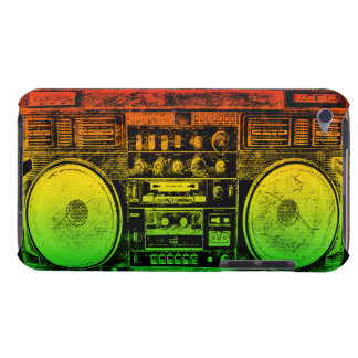 Rasta ghetto blaster barely there iPod cover