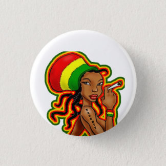 Rasta Girl plates 3 Cm Round Badge