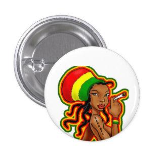 Rasta Girl plates 3 Cm Round Badge