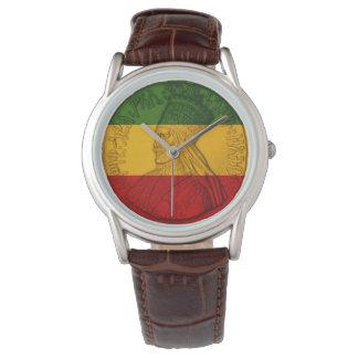 Rasta Haile Selassie Watch Rastafarian Colors