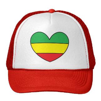 Rasta Heart Cap