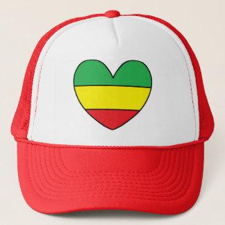 Rasta Heart Trucker Hat