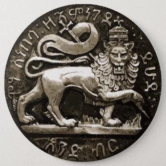 Rasta Lion of Judah Ancient Design on Button