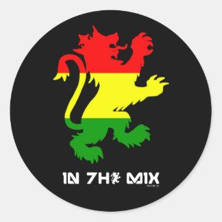 Rasta Lion Stickers