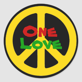 Rasta One Love Sticker
