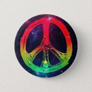 Rasta Peace 6 Cm Round Badge
