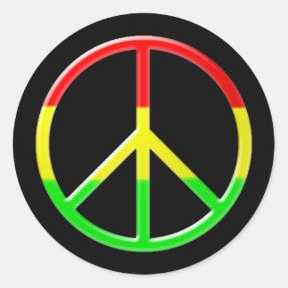 Rasta Peace Classic Round Sticker