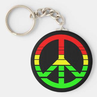 Rasta Peace Keychain